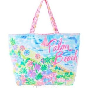 Lilly Pulitzer destination tote Palm Beach